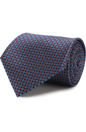 Мужской комплект из галстука и платка BRIONI темно-синего цвета, арт. 08A400/07468   Фото 1