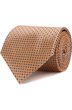 Мужской комплект из галстука и платка BRIONI желтого цвета, арт. 08A400/07468 | Фото 1