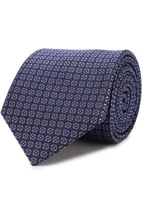 Мужской шелковый галстук с узором BRIONI фиолетового цвета, арт. 061D00/07430 | Фото 1