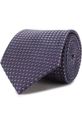 Мужской шелковый галстук с узором BRIONI сиреневого цвета, арт. 061E00/0740G | Фото 1