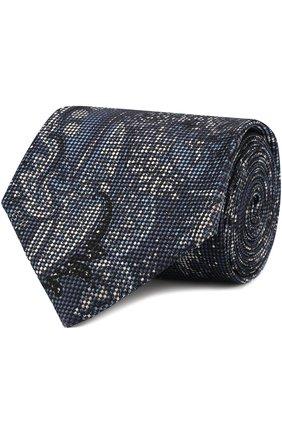 Мужской комплект из галстука и платка BRIONI синего цвета, арт. 08A400/0741Y   Фото 1