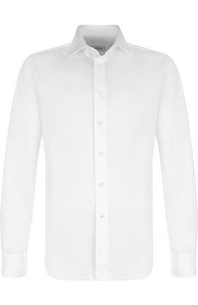 Мужская хлопковая сорочка с воротником кент BRIONI белого цвета, арт. RCL07B/PZ042 | Фото 1