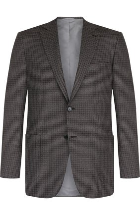 Мужской однобортный шерстяной пиджак BRIONI серого цвета, арт. RG0J0L/07A8B/BRUNIC0/2 | Фото 1