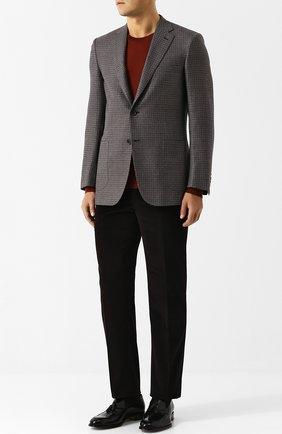 Мужской однобортный шерстяной пиджак BRIONI серого цвета, арт. RG0J0L/07A8B/BRUNIC0/2 | Фото 2