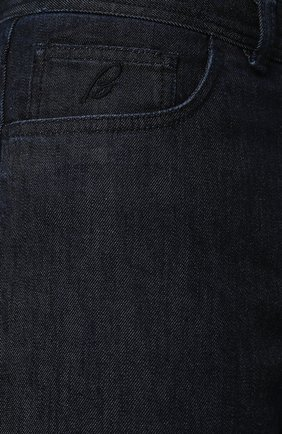 Джинсы прямого кроя Brioni темно-синие | Фото №5