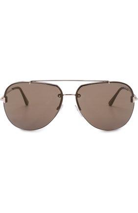Мужские солнцезащитные очки TOM FORD золотого цвета, арт. TF584 | Фото 2