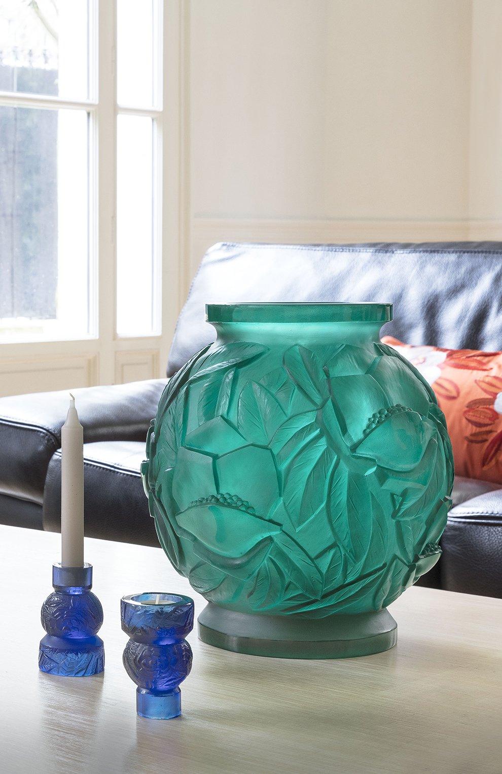 Мужского ваза empreinte DAUM зеленого цвета, арт. 05584 | Фото 2