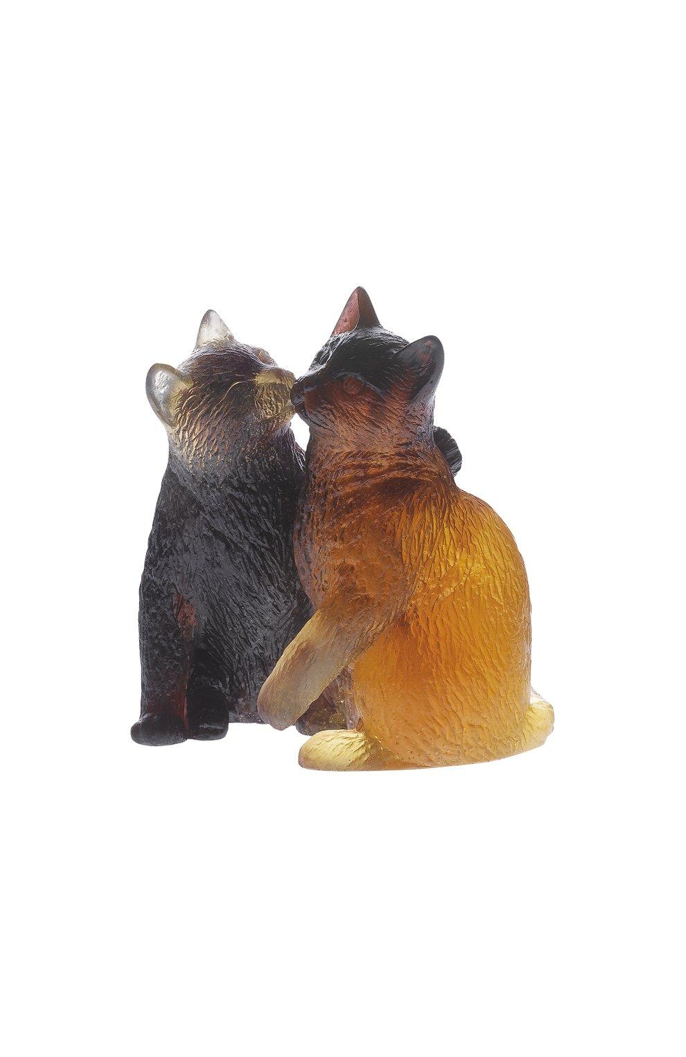 Мужского скульптура kittens DAUM коричневого цвета, арт. 05026 | Фото 1
