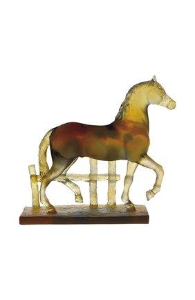 Мужского скульптура trotting horse DAUM зеленого цвета, арт. 03845   Фото 1