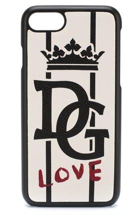 Кожаный чехол для iPhone 7/8 Dolce & Gabbana  | Фото №1