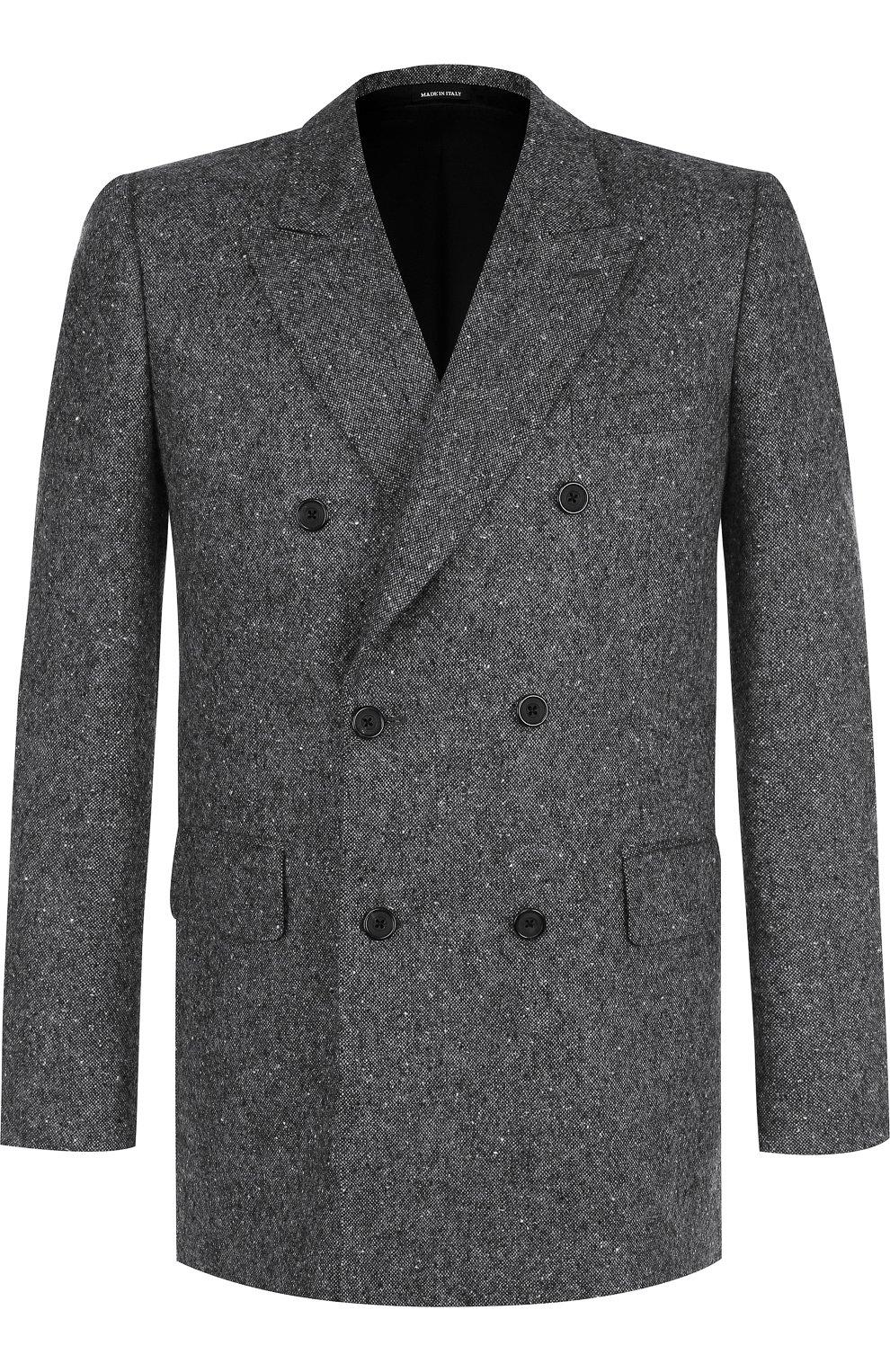 Двубортный кашемировый пиджак | Фото №1