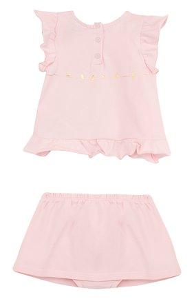 Хлопковый комплект из футболки и юбки | Фото №2
