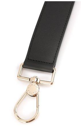 Кожаный ремень для сумки с аппликацией Furla черного цвета | Фото №1