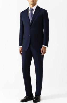 Мужской кожаные дерби на шнуровке BRIONI черного цвета, арт. QEEQ0L/P6757 | Фото 2