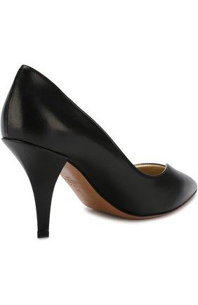 b2800393c0be Женские черные кожаные туфли valentino garavani heart на устойчивом ...