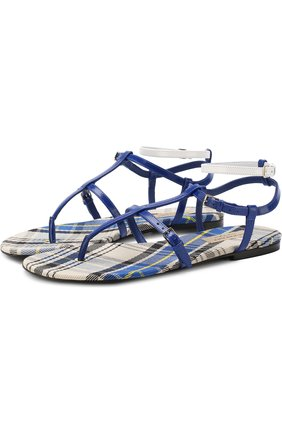 Кожаные сандалии с ремешками   Фото №1