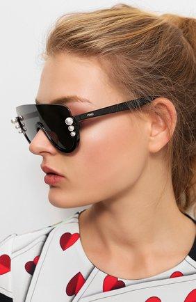 Мужские солнцезащитные очки FENDI черного цвета, арт. 0296 807 | Фото 2