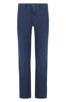 Мужские джинсы прямого кроя BRIONI темно-синего цвета, арт. SPL52D/P3D02/SUNSET | Фото 1