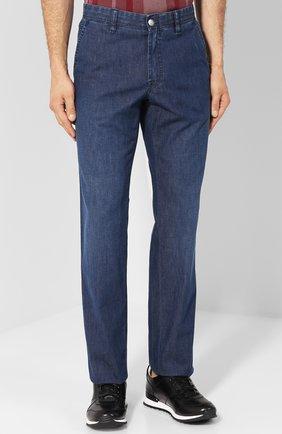 Мужские джинсы прямого кроя BRIONI темно-синего цвета, арт. SPL52D/P3D02/SUNSET | Фото 3