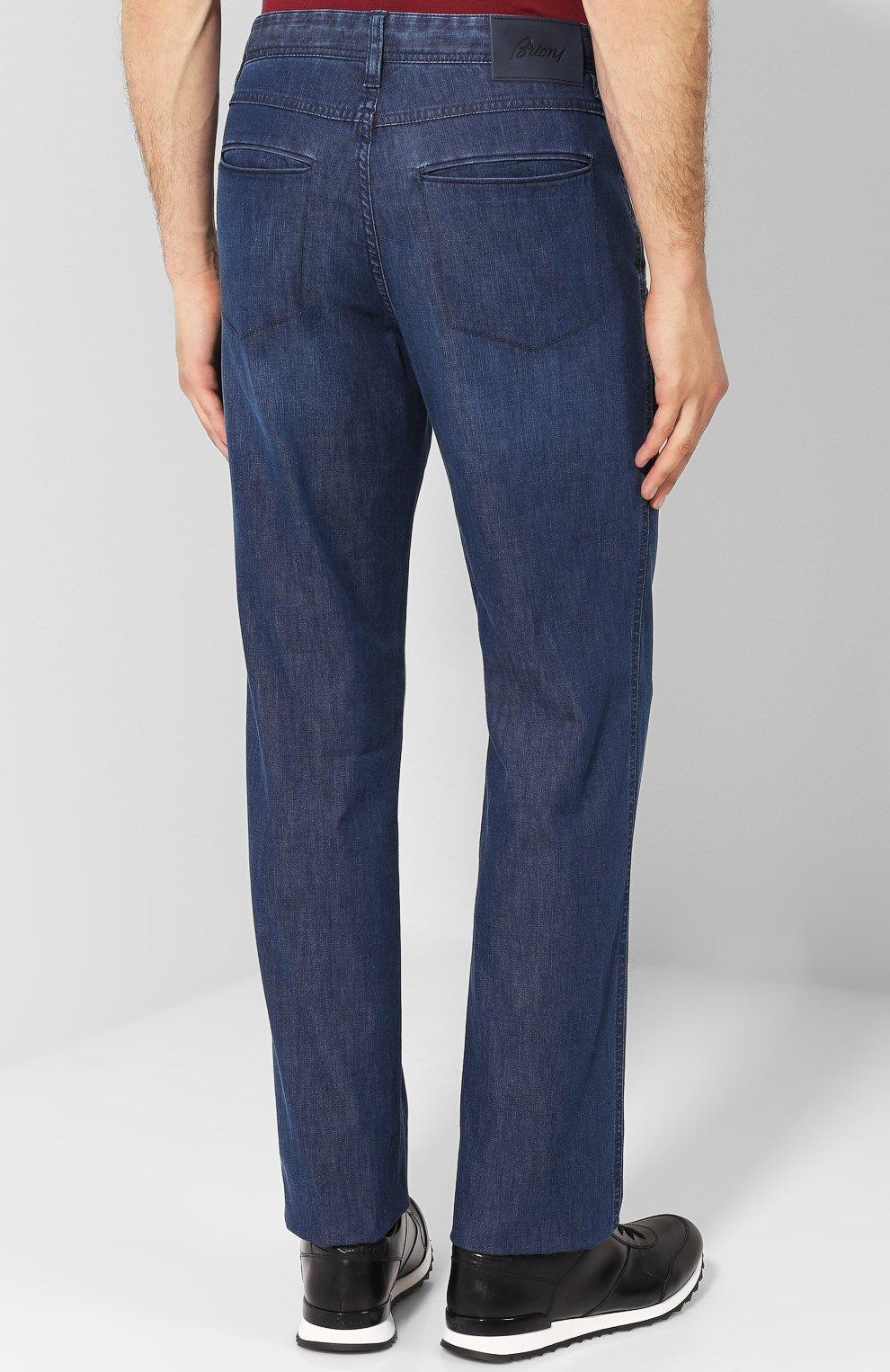 Мужские джинсы прямого кроя BRIONI темно-синего цвета, арт. SPL52D/P3D02/SUNSET | Фото 4