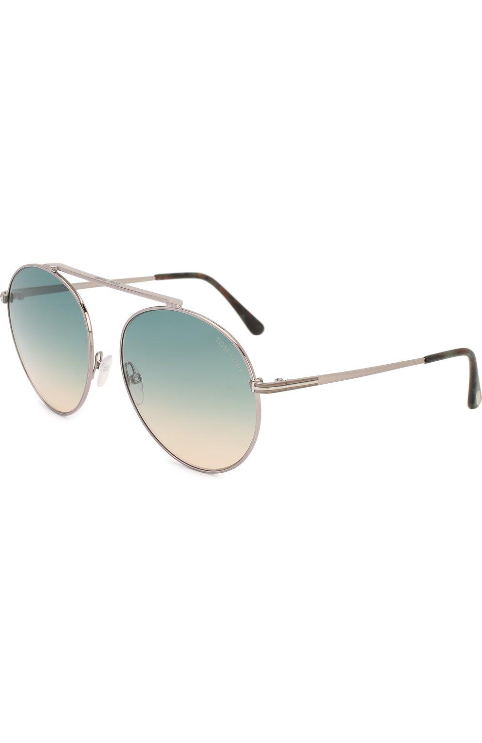 Женские солнцезащитные очки TOM FORD голубого цвета, арт. TF571 | Фото 1
