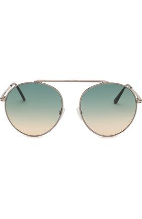 Женские солнцезащитные очки TOM FORD голубого цвета, арт. TF571 | Фото 2
