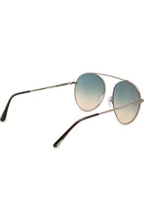 Женские солнцезащитные очки TOM FORD голубого цвета, арт. TF571 | Фото 3
