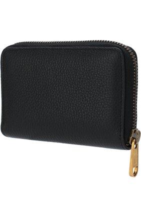 Мужской кожаный футляр для кредитных карт на молнии GUCCI черного цвета, арт. 496319/0GCAT | Фото 2