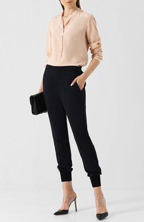 Женская шелковая блузка STELLA MCCARTNEY светло-розового цвета, арт. 531885/SY206 | Фото 2