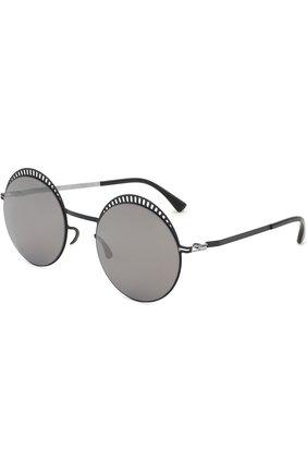 Мужские солнцезащитные очки MYKITA черного цвета, арт. STUDI0 1.4/BLACK/SILVER/BLACK | Фото 1