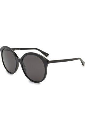 Женские солнцезащитные очки GUCCI черного цвета, арт. GG0257 001 | Фото 1