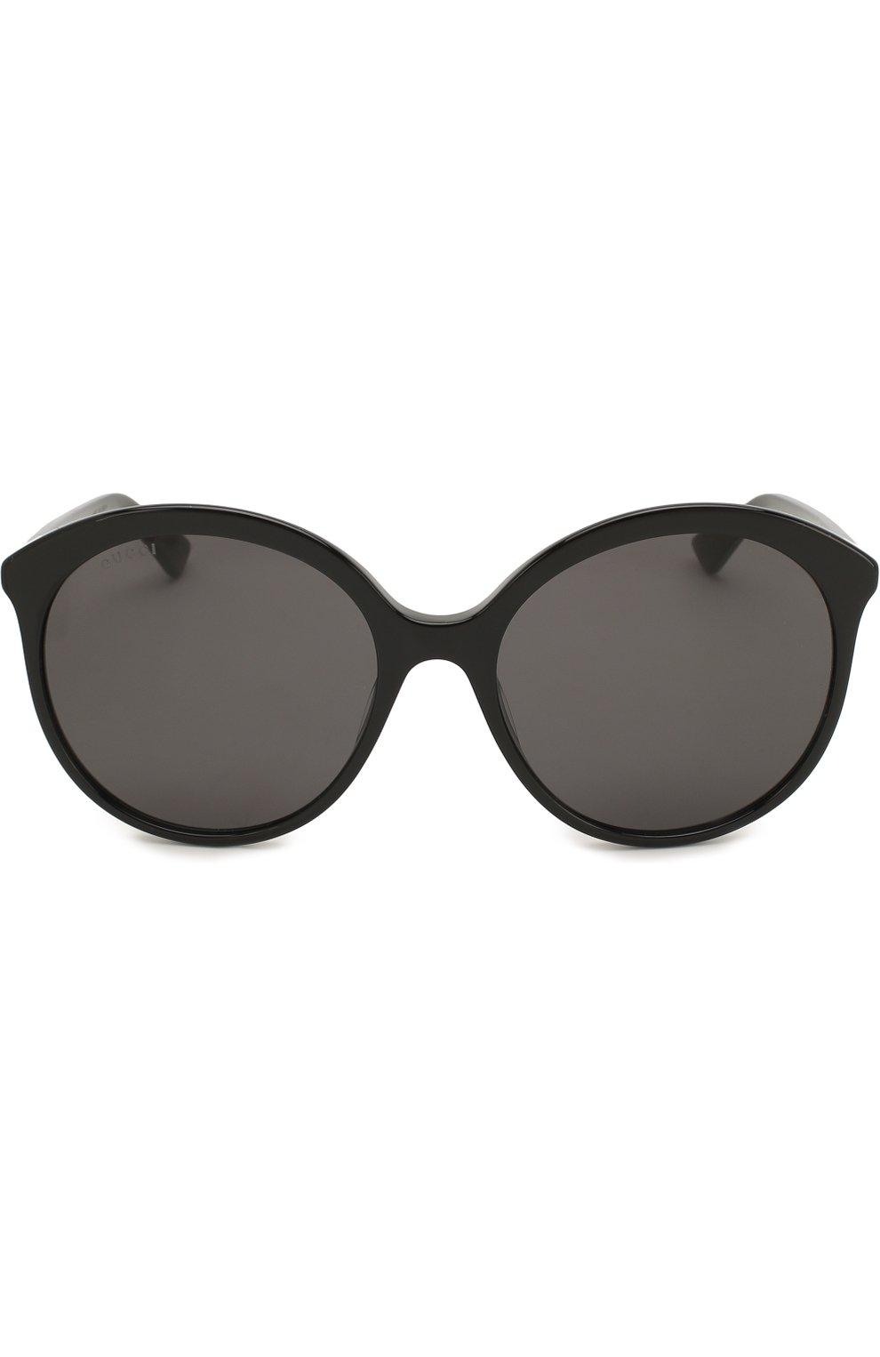 Женские солнцезащитные очки GUCCI черного цвета, арт. GG0257 001 | Фото 3