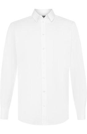 Мужская хлопковая сорочка с воротником кент DOLCE & GABBANA белого цвета, арт. G5EJ1Z/FU5GK | Фото 1