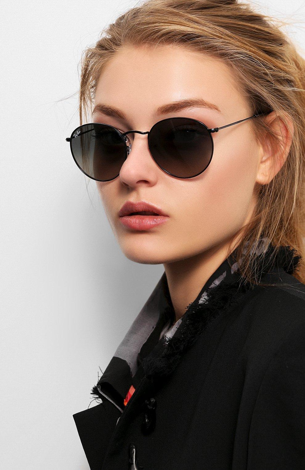 Женские солнцезащитные очки RAY-BAN черного цвета, арт. 3447N-002/71 | Фото 2