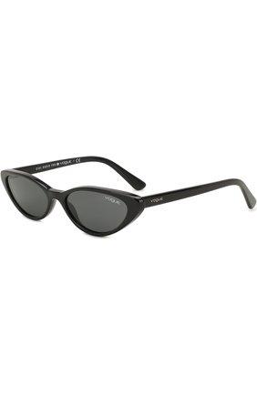 Женские солнцезащитные очки VOGUE EYEWEAR черного цвета, арт. 5237S-W44/87 | Фото 1