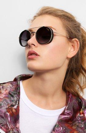 Женские солнцезащитные очки CARRERA черного цвета, арт. CARRERA 167 Y11   Фото 2 (Тип очков: С/з)