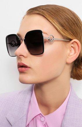 Мужские солнцезащитные очки FENDI серебряного цвета, арт. 0294 807 | Фото 2