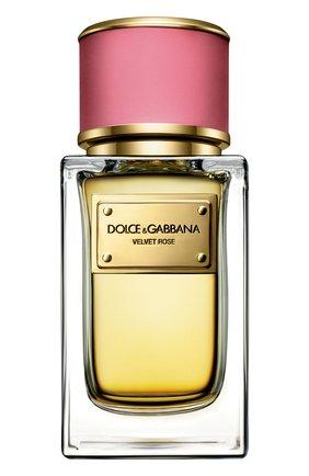 Женский парфюмерная вода velvet collection rose DOLCE & GABBANA бесцветного цвета, арт. 3026655DG | Фото 1