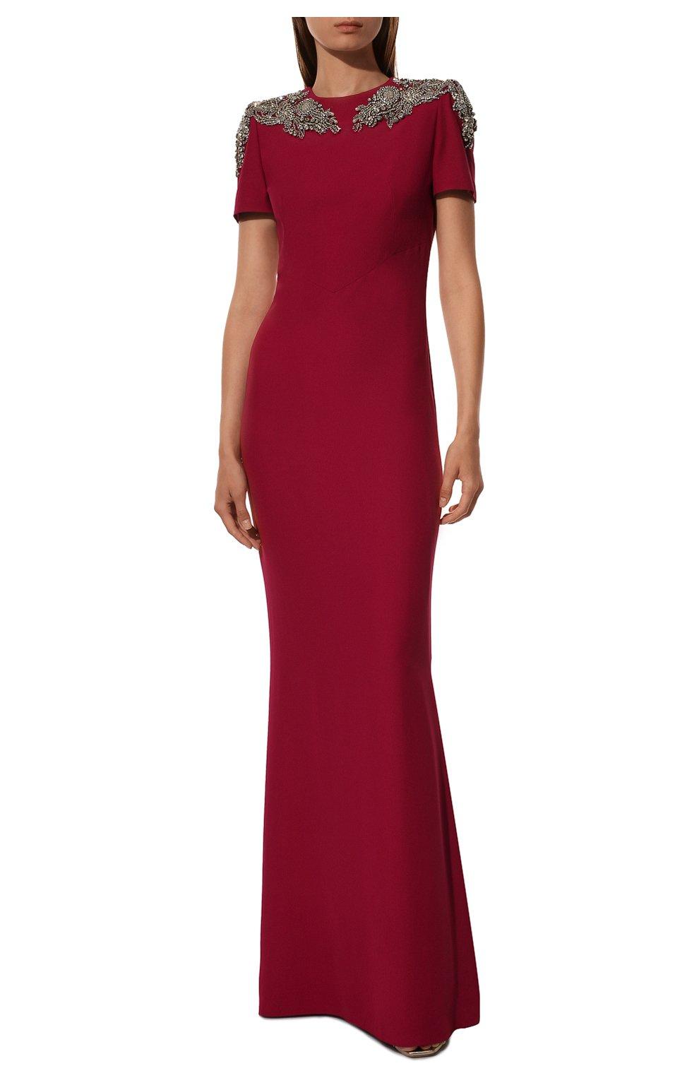 Однотонное платье-макси с декоративной отделкой   Фото №2