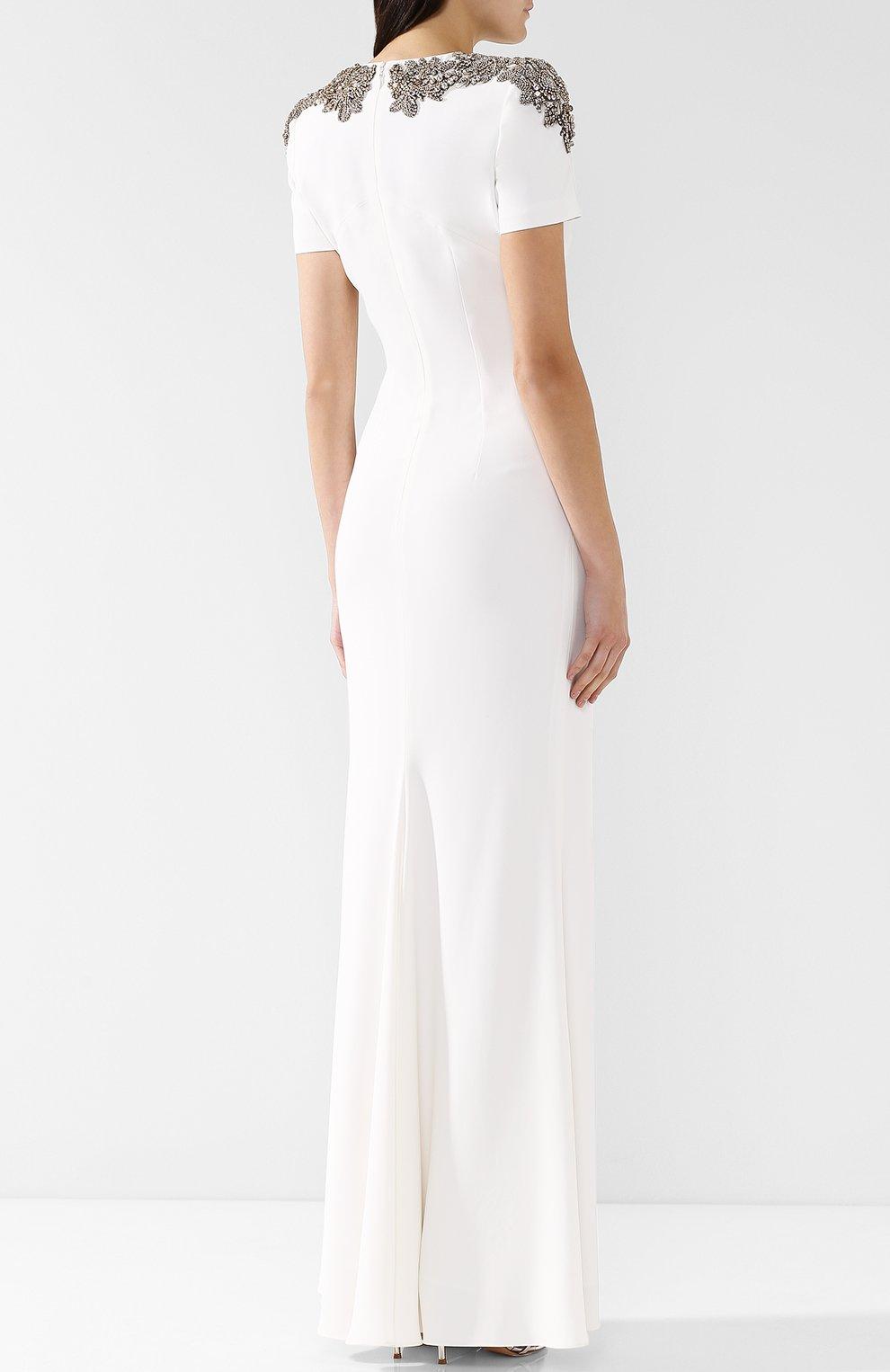 Однотонное платье-макси с декоративной отделкой   Фото №4