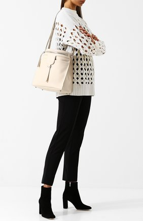 Женская сумка thea small TOD'S белого цвета, арт. XBWANSE0200HWKB010 | Фото 2
