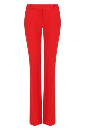 Женские однотонные расклешенные брюки со стрелками ALEXANDER MCQUEEN красного цвета, арт. 308721/QLE40 | Фото 1