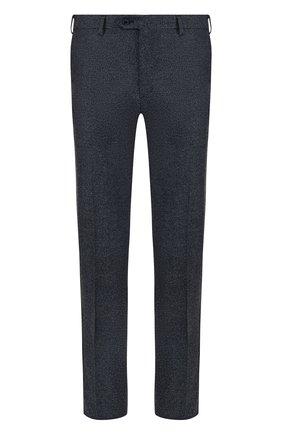 Шерстяные брюки прямого кроя Brioni серые | Фото №1