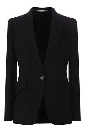 Женский жакет ALEXANDER MCQUEEN черного цвета, арт. 358166/QLE40 | Фото 1