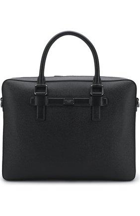 Кожаная сумка для ноутбука Mediterraneo с плечевым ремнем | Фото №1