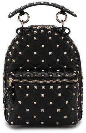 Женский рюкзак valentino garavani rockstud spike mini VALENTINO черного цвета, арт. QW1B0B63/NAP | Фото 1
