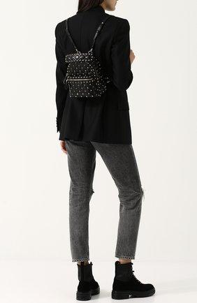 Женский рюкзак valentino garavani rockstud spike mini VALENTINO черного цвета, арт. QW1B0B63/NAP | Фото 2
