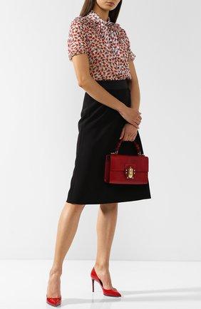 Женская кожаные туфли kate DOLCE & GABBANA красного цвета, арт. CD0039/AC062 | Фото 2