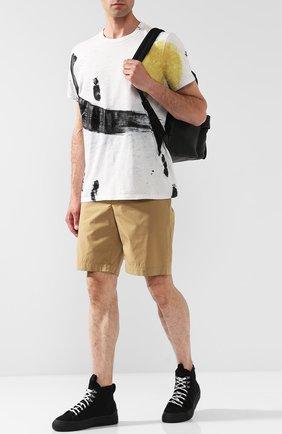 Мужская хлопковая футболка с принтом MONCLER белого цвета, арт. D1-091-80351-50-809AR   Фото 2