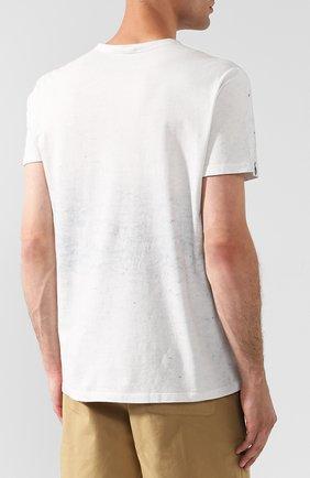 Мужская хлопковая футболка с принтом MONCLER белого цвета, арт. D1-091-80351-50-809AR   Фото 4